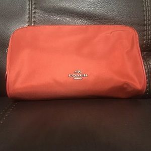 COACH  F58064 Cosmetic RED Makeup Nylon Case Bag